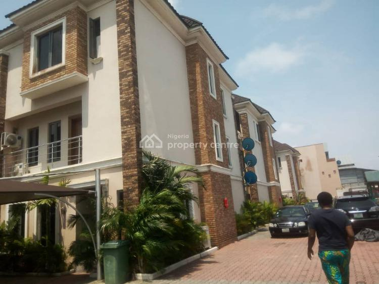 Spacious 4 Bedroom Terrace Duplex in an Estate with Ether Light, Ikate, Lekki, Lagos, Terraced Duplex for Rent