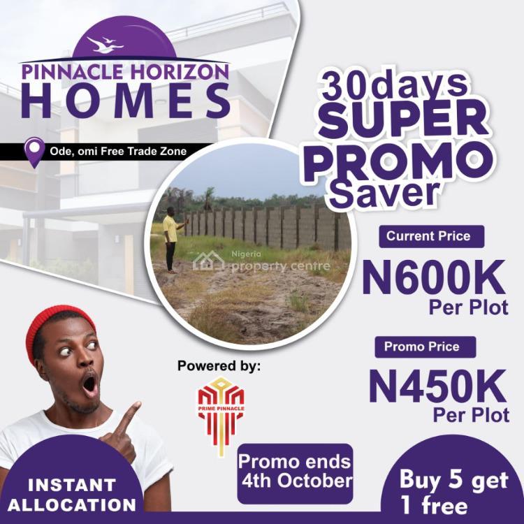 a Strategic Location Land, Pinnacle Horizon Homes Ode Omi, Ibeju Lekki, Lagos, Land for Sale