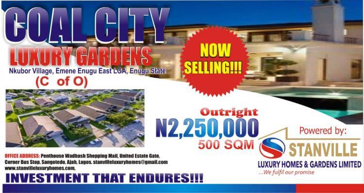 Residential Land with C of O, Coal City Luxury Garden Nkubor Village Emene, Emene, Enugu, Enugu, Residential Land for Sale