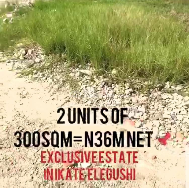 2 Units of 300sqm of Land in an Exclusive Estate, Ikate Elegushi, Lekki, Lagos, Residential Land for Sale