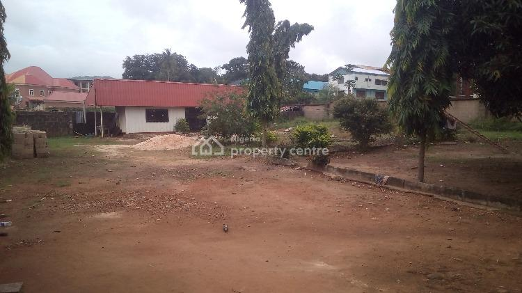 Commercial Land with Boys Quarter and Small Office, Along Okpra Avenue Near Peace Park, Gra, Enugu, Enugu, Commercial Land for Rent