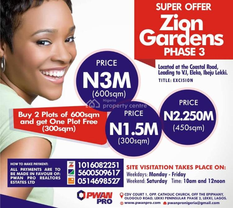 Good Land, Excel Gardens 3, Eleko, Ibeju Lekki, Lagos, Mixed-use Land for Sale