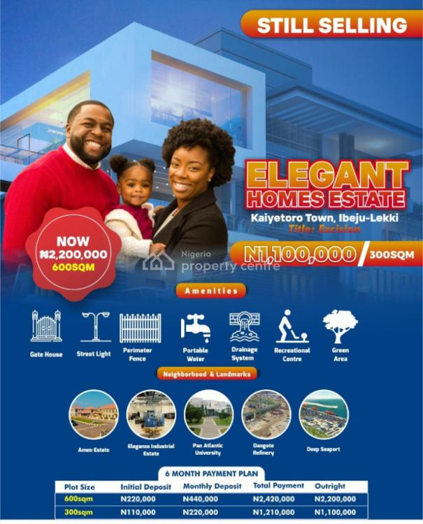 a Secured Estate Verifieble  with a Great Tittle, Ibeju Lekki, Lagos, Residential Land for Sale