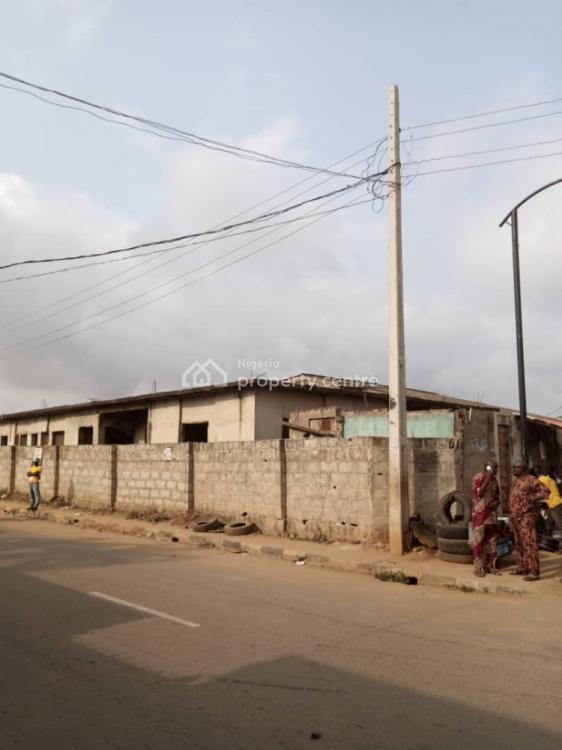 a Decked House on a Plot of Land, Ahmadiya Via Abule Egba, Abule Egba, Agege, Lagos, Detached Bungalow for Sale