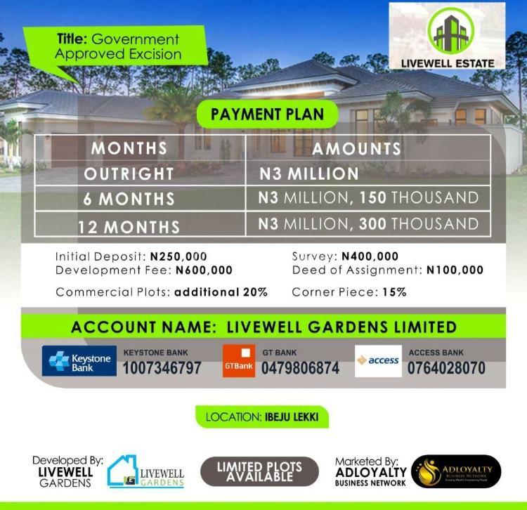 Dry Land, Livewell Estate, Ogogoro, Ibeju Lekki, Lagos, Residential Land for Sale