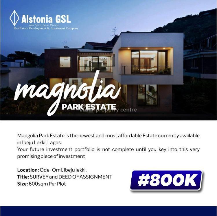 Good Land, Magnolia Park, Eleko, Ibeju Lekki, Lagos, Residential Land for Sale