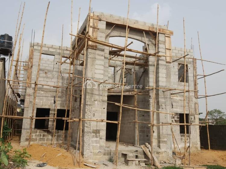 5 Bedroom Duplex (semi Finished), Rumuagholu Town, Port Harcourt, Rivers, Detached Duplex for Sale
