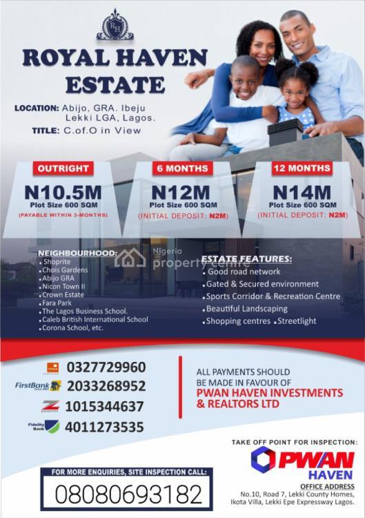 Dry Land, Abijo Gra Royal Haven Estate, Ibeju Lekki, Lagos, Mixed-use Land for Sale