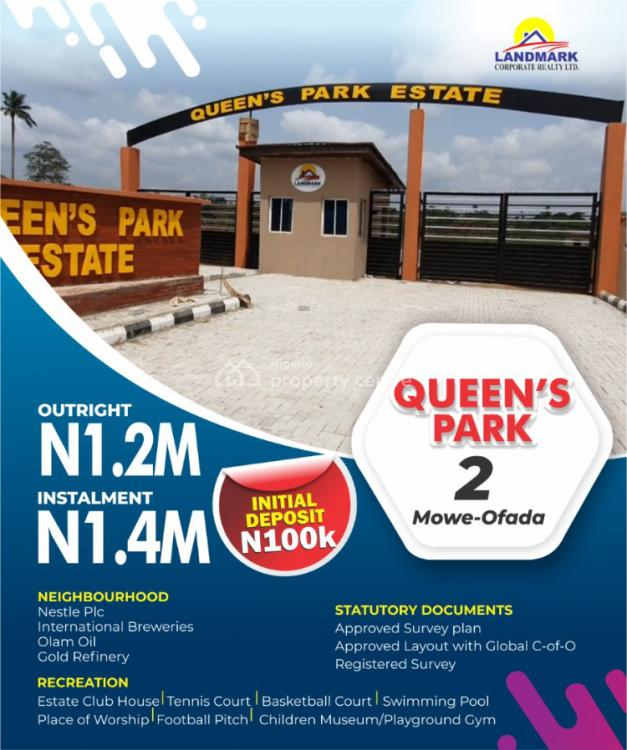 Queens Park Most Affordable C of O Land, Mowe Ofada, Ogun, Mixed-use Land for Sale