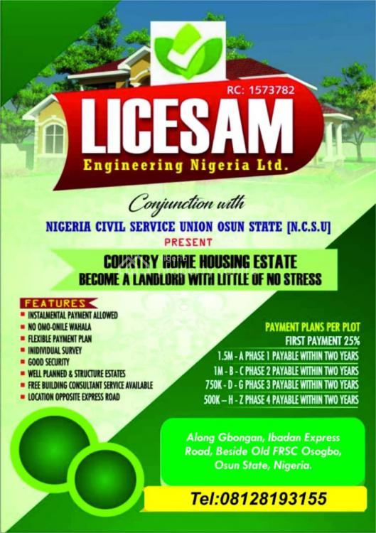 Nigeria Civil Service Union Country Home, Ikirun/oshogbo Road, Osogbo, Osun, Mixed-use Land for Sale
