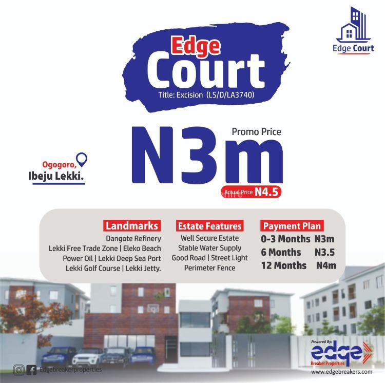 Premium Plot of Land in Good Location, Near Dangote Refinery, - Edge Court, Ogogoro, Ibeju Lekki, Lagos, Residential Land for Sale