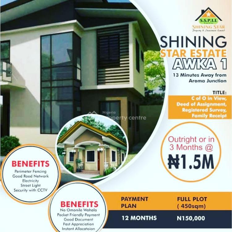 Shining Star Estate Awka 1, Shining Star Estate Awka 1. 13min Drive From Aroma Junction., Awka, Anambra, Residential Land for Sale