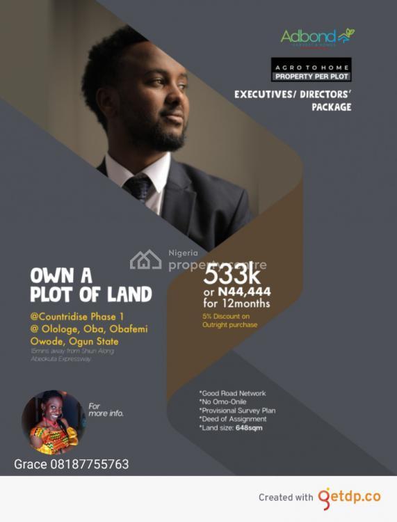 Raw Lands at Affordable Prices., Olologe, Owode, Obafemi Owode, Ogun, Mixed-use Land for Sale
