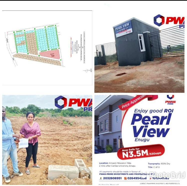 Land, Pearl View Estate, Enugu, Enugu, Mixed-use Land for Sale