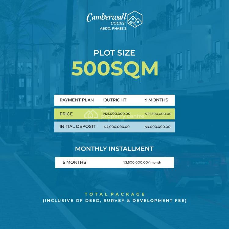 Premium Plot of Land in Prime Location, Gra- Camberwall 2, Abijo, Lekki, Lagos, Residential Land for Sale