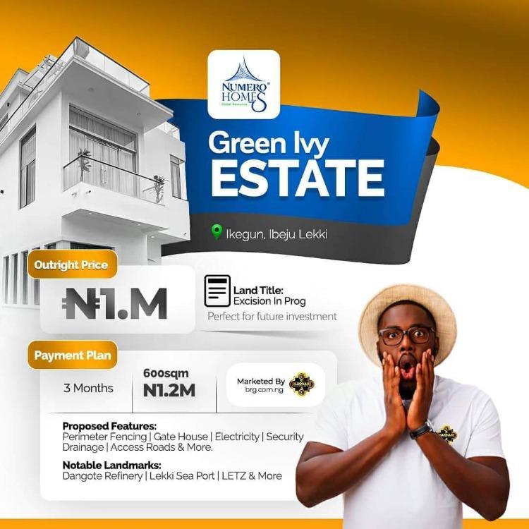 Prime Estate Plot of Land, Green Ivy Estate, After Lacampagne Tropicana, Ikegun, Ibeju Lekki, Lagos, Residential Land for Sale