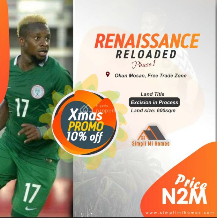 Land, Renaissance Reloaded Phase 1, Okun Imosan, Ibeju Lekki, Lagos, Residential Land for Sale