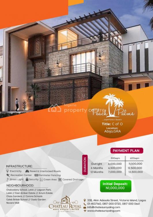 Land, Peach Palms, Abijo Gra, Lekki, Lagos, Residential Land for Sale