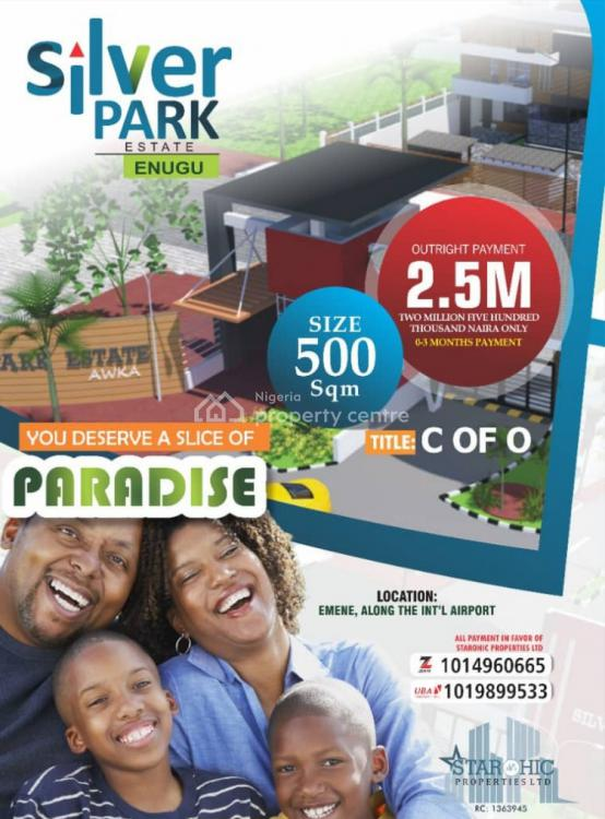 C of O Land, Silver Park Estate Emene Along International Airport, Emene, Enugu, Enugu, Residential Land for Sale