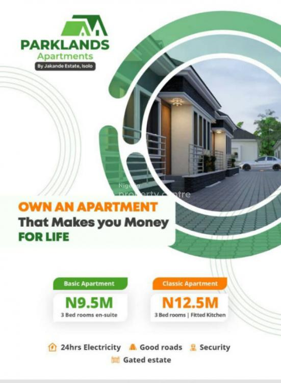 3 Bedroom Affordable  Apartments, Parklands Apartments Buknor Estate By Jakande Estate, Ire Akari, Isolo, Lagos, Flat for Sale