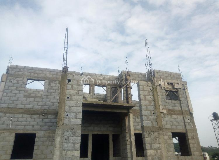 Six Bedrooms Carcass with Space for 2rooms Bq, Inside a Serene and Secured Estate, Katampe (main), Katampe, Abuja, Detached Duplex for Sale