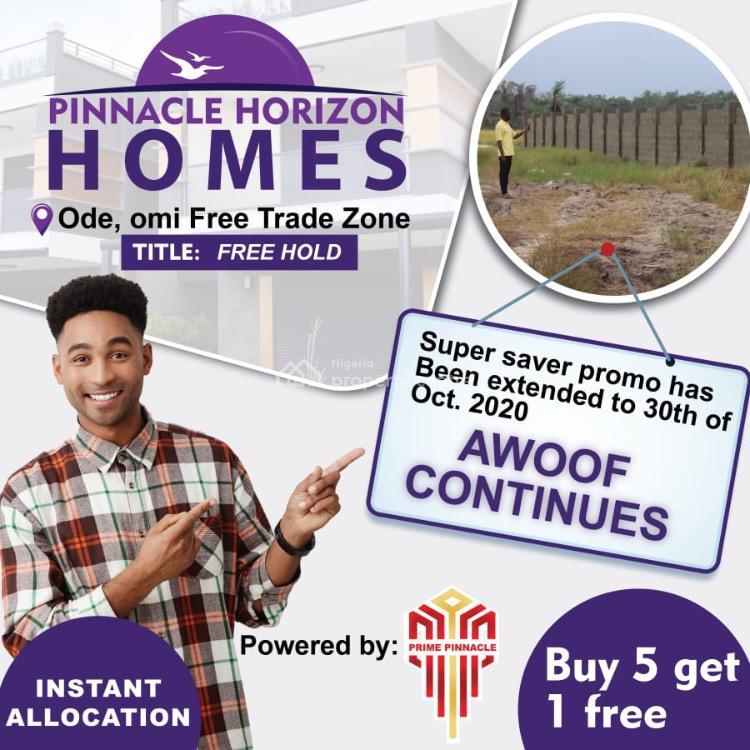 Land, Promo Extension, Pinnacle Horizon Homes, Ode Omi, Free Trade Zone, Ibeju Lekki, Lagos, Mixed-use Land for Sale