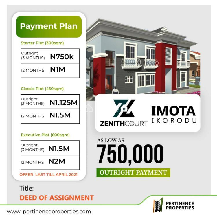 Affordable Land, Zenith Court, Imota, Agbowa, Ikorodu, Lagos, Residential Land for Sale