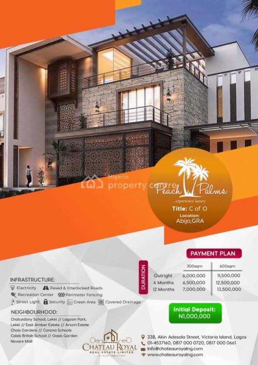 Estate of The Day, Peach Palms Estate, Abijo, Lekki, Lagos, Residential Land for Sale