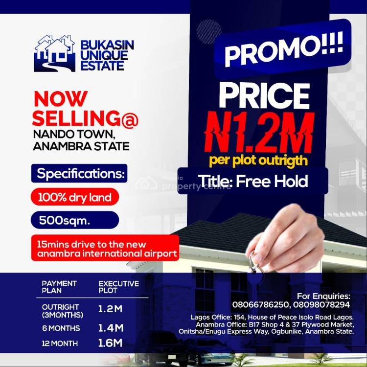 Plots of Land in a Siren Location, Nando Town, Onitsha, Anambra, Residential Land for Sale