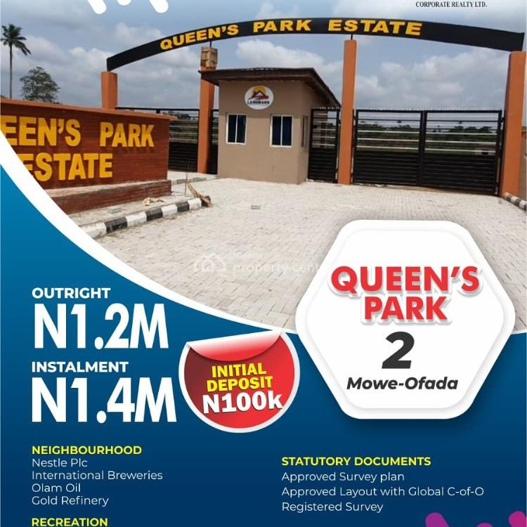 Plots of Land in a Serene and Equisite Estate, Queens Park Estate 2, Off International Breweries Road, Mowe Ofada, Ogun, Residential Land for Sale