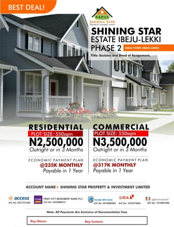Commercial Land, Shining Star Estate Phase 2, Ibeju Town, Ibeju Lekki, Lagos, Commercial Land for Sale