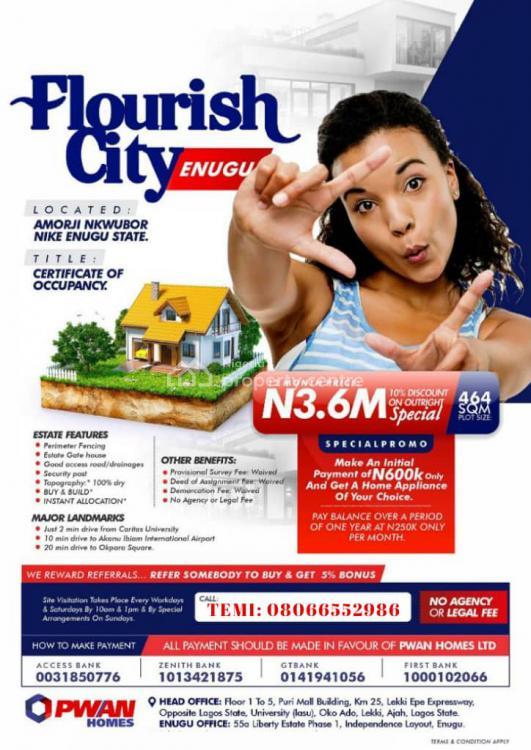 Flourish City Estate, Amorji Nkwubor, Nike, Enugu, Enugu, Mixed-use Land for Sale