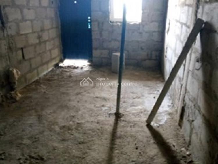 Three Bedroom Terraced House. (carcass)., Abijo, Lekki, Lagos, House for Sale