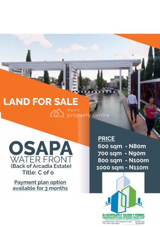 Water Front Land, Osapa, Lekki, Lagos, Residential Land for Sale