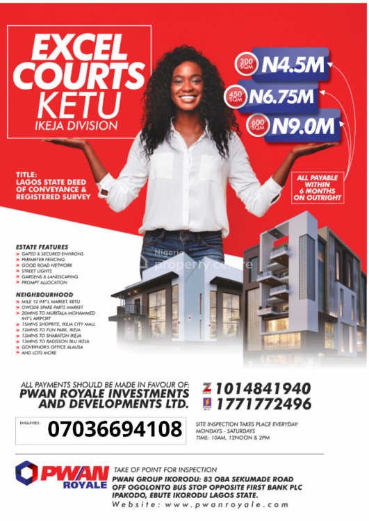 Lagos State Deed of Conveyance and Registered Survey, Owode,agboi,, Ketu, Lagos, Land for Sale