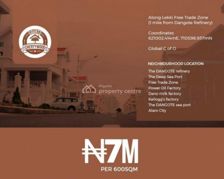 Commercial Land with C of O, Cherrywood Courts Along Lekki Free Trade Zone, Osoroko, Ibeju Lekki, Lagos, Commercial Land for Sale