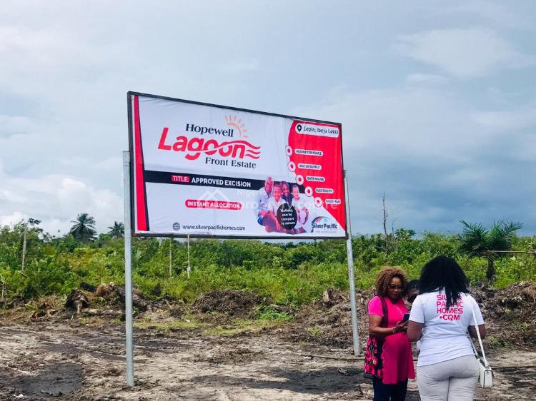 Land in Hopewell Lagoon Front Estate, 13 Minutes Drive From La Campagne Tropicana Beach Resort, Lepia, Ibeju Lekki, Lagos, Residential Land for Sale
