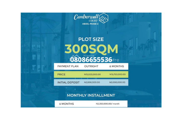 Land with C of O in a Developed Estate- Camberwall Court 2, Abijo Gra, Abijo, Lekki, Lagos, Residential Land for Sale