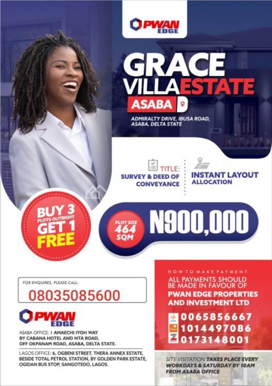 Dry Land, Grace Villa Estate, Admiralty Drive, Ibusa Bypass Road, Asaba, Delta, Residential Land for Sale