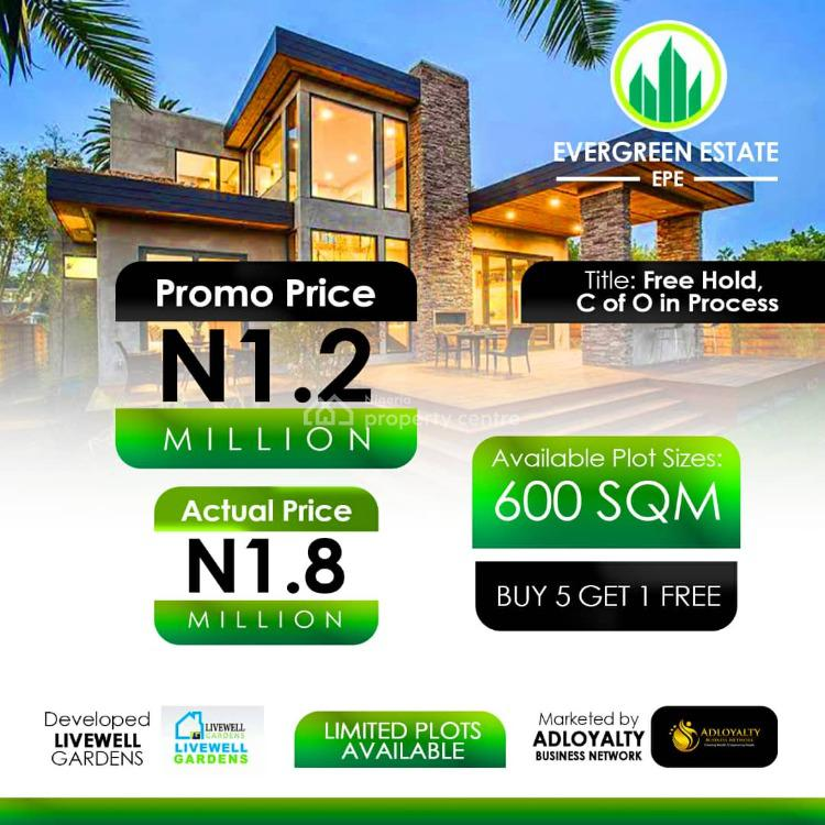 Affordable Dry Land, Evergreen Estate., Epe, Lagos, Residential Land for Sale