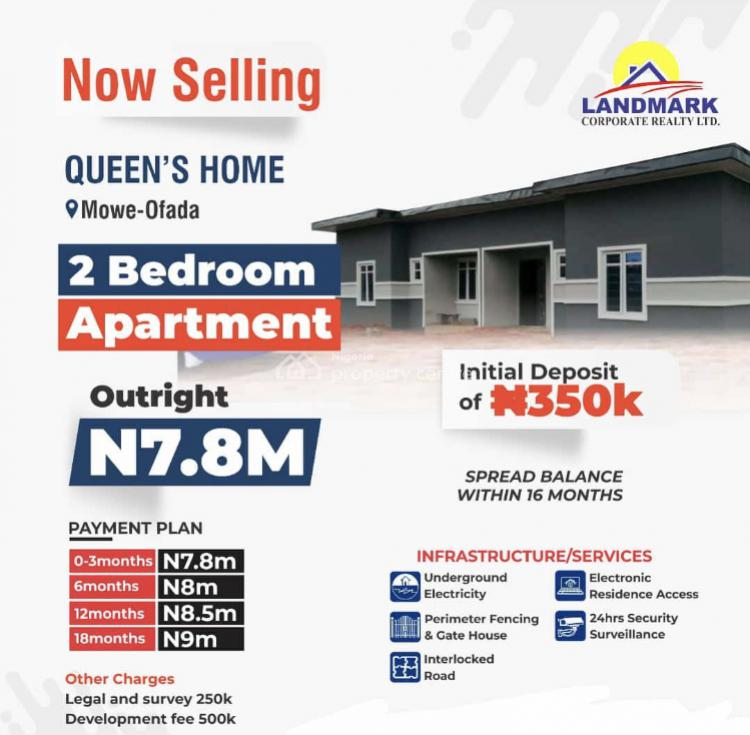 Tastefully Finished 2 Bedrooms Apartment with Impeccable Services, Mowe Ofada, Ogun, Detached Bungalow for Sale