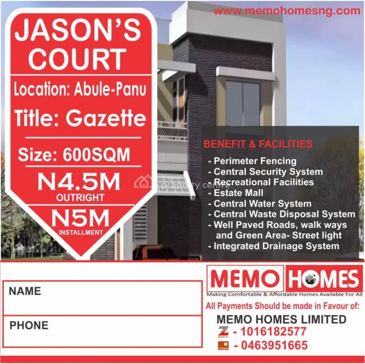 Affordable Dry Land, Jasons Court Abule Panu, Ibeju Lekki, Lagos, Residential Land for Sale