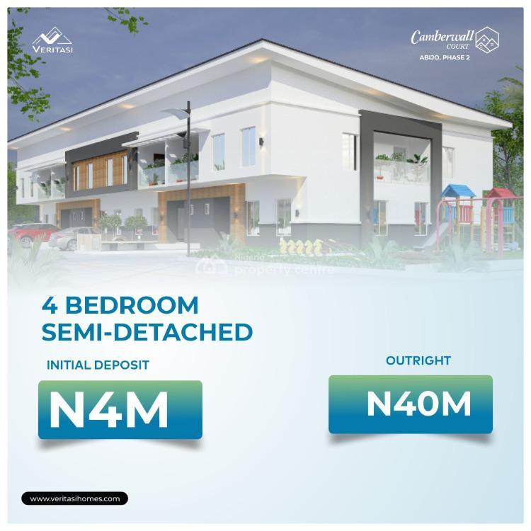 Luxury 4 Bedroom Semi Detached Duplex, Camberwall Court Phase 2 Abijo, Ajah, Lagos, Semi-detached Duplex for Sale