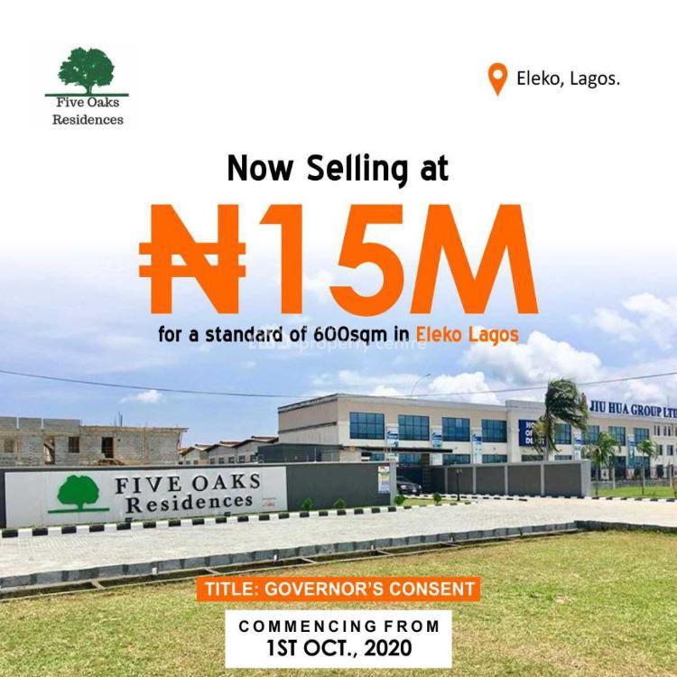 Dry Land, Five Oaks Residences, Eleko, Ibeju Lekki, Lagos, Residential Land for Sale