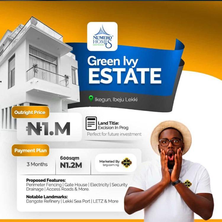Affordable Dry Land, Green Ivy Estate, Ikegun, Ibeju Lekki, Lagos, Residential Land for Sale