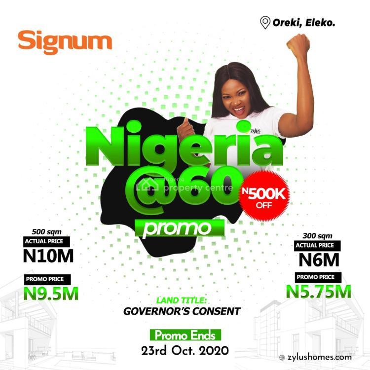 Dry Land, Signum Oreki, Eleko, Ibeju Lekki, Lagos, Residential Land for Sale