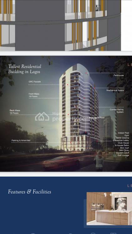 4 Bedroom Penthouse Apartments Plus a Room Bq, Banana Island, Ikoyi, Lagos, Block of Flats for Sale