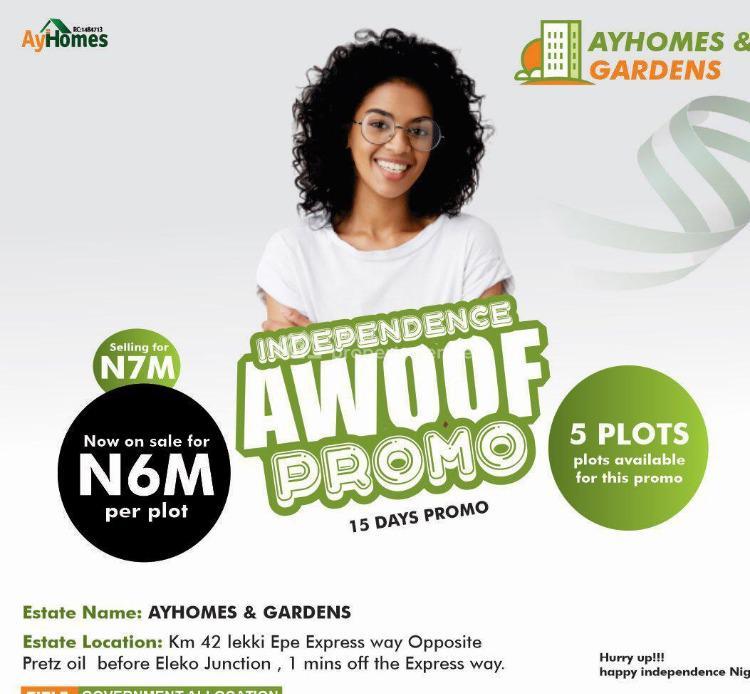 Ayhomes & Gardens*, Eleko, Ibeju Lekki, Lagos, Residential Land for Sale