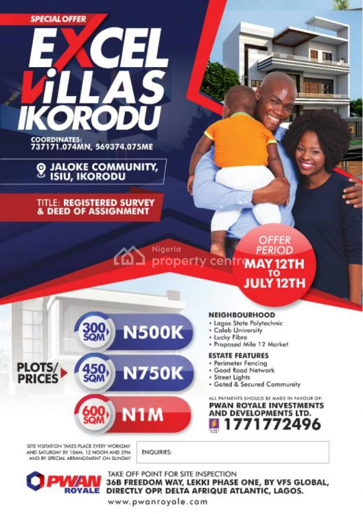 Excel Villas, Jaloke Community, Ikorodu, Lagos, Mixed-use Land for Sale
