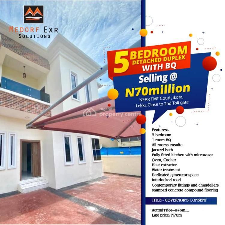Governors Consent, Cnl, Near Tmt Court Close to 2nd Toll Gate, Ikota, Lekki, Lagos, Detached Duplex for Sale